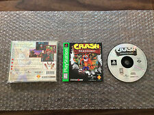 Crash Bandicoot (PlayStation 1, Ps1) Complete - Greatest Hits - Case has wear