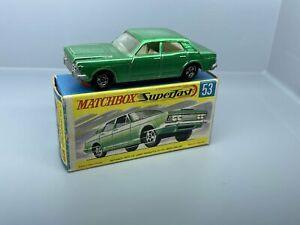 No. 53 - altes Matchbox / Superfast Modell - Ford Zodiac Mk. IV   / 4 C -53
