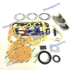 3AB1 Full Gasket Kit Piston Ring Bearing Set For ISUZU Hanik N-4 N-35 NC3000