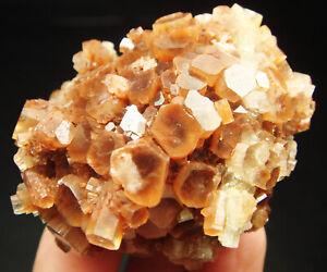 95g Beautiful Orange Flowery ARAGONITE Crystal Cluster Mineral Specimen