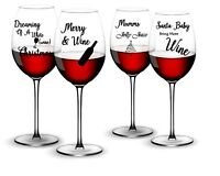 8 X FUNNY CHRISTMAS DECAL  FOR WINE GLASS OR WINE BOTTLES STICKER