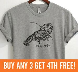 Cray Cray Shirt Funny Fishing Shirt Fish T-shirt Animal Pun Shirt Unisex XS-XXL