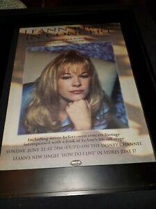 Leann Rimes Rare Original Disney Concert Radio Promo Poster Ad Framed!