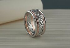10K White & Rose Gold Celtic Knot Knot Wedding Ring Keith Jack Size 10