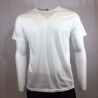 Men's T-Shirt LANDES DAILY Crew Neck Tee 100% Cotton WHITE Made in USA