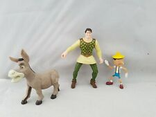 Shrek Bundle Of 3 Figures Human Donkey Pinocchio