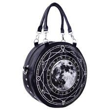Restyle Lunar FULL MOON Occulto Gothic Ecopelle ROUND Spalla Borsa a mano