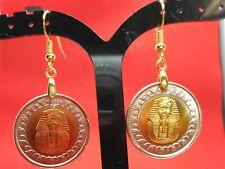 Rare Vintage King Tut Uncirculated Coins Handmade Earrings Golden Apple Dynamics