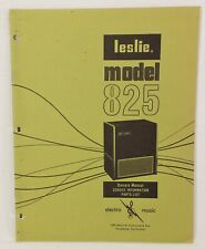 Leslie Speaker Model 825 Service Manual