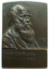 Plakette, Charles Darwin (1809-1882), Sign. Szödy