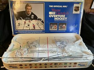Wayne Gretzky's Overtime Hockey Table Game Nets Rangers La Kings Vintage