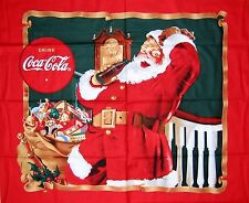 1 Yard Quilt Cotton Fabric - Sykel Coca Cola Old Fashioned Santa Christmas Panel