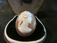 Lovely Vintage Quality 9ct Gold Large Classical Lady Cameo Ring