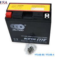 Motorcycle 12v YT14B-BS Battery For Yamaha 1100cc XVS1100 V-Star 1999-2012 US