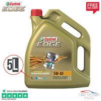 Castrol Edge Titanium 5W40 Synthetic Engine Oil - 5 Litres *NEW 5L BOTTLE*