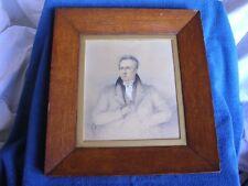 Royal Navy Admiral Arthur Lysaght (1782-1859)/Pencil Drawing Framed Under Glass