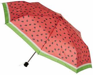Misty Harbor Watermelon Manual Open Umbrella One Size Pink/green/black