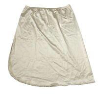 Vanity Fair Cream Vintage Side Slit Skirt Half Slip Womens S Small