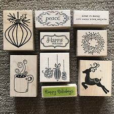 A Lot Of 9 -Winter And Christmas Rubber Stamps