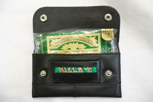 Soft Leather Tobacco Pouch With Paper Slot