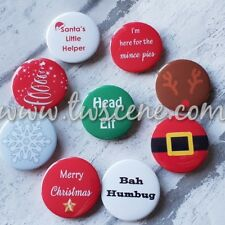 Personalised optional set of 9 christmas badges gifts