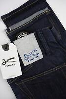 UVP $295 Denham Tokyo Vcoss Herren W32/L30 Tiefer Karotte Für Selvage Raw Jeans