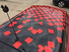 MINI CHECKERS FADING AWAY GRAPHICS DECALS CAR VINYL STICKERS CHECKER ROOF