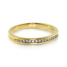 18ct Yellow Gold - Diamond Half Eternity - Wedding Ring - Size J  (00129)