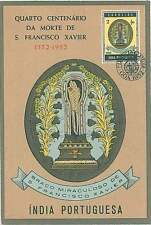 MAXIMUM CARD: Portuguese India 1952 - RELIGION