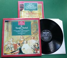 Great Composers 28 A Baroque Festival Purcell + Marriner 411005-1 LP + Book