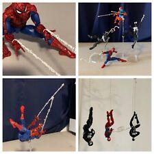 Spider man Marvel Legends Set of 4 Custom Web Figures not included!