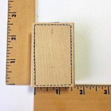 Savvy Rubber Stamp - Deckle Rectangle Frame  - NEW
