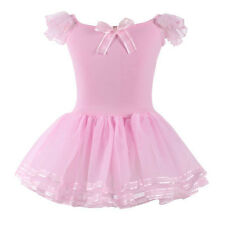 Toddler Girls Kids Tutu Ballet Leotard Dress Ballerina Dance Wear Tulle Costume