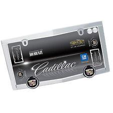 CADILLAC Chrome Metal License Plate Tag Frame for car truck + 2 Screw Bolt Caps