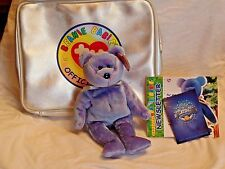 Ty Limited Ed. 1999 Beanie Baby Platinum Gift Set Clubby II w/ Carrying Case