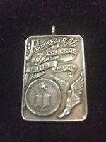 Antique 1910 Dieges & Clust Sterling Silver Victorian  Embossed Medal Amherst