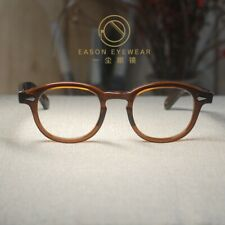 Vintage eyeglass frame Johnny Depp brown mens women optical eyeglass clear lens
