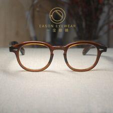 Vintage acetate eyeglasses frame brown Johnny Depp glasses men's rx eyewear