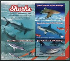 Grenadines Grenada 2019 MNH Sharks Remora Shark 4v M/S Marine Animals Stamps
