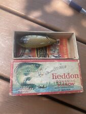 vintage heddon crab wiggler with correct box and paper antique fishing lure