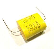 10uf Metallized Polypropylene Capacitor 100v Film 10 Mfd Cap Audio Crossover