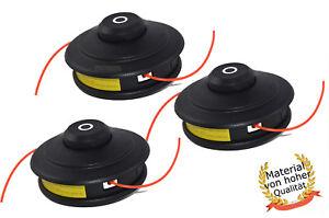3X Profi Doppelfadenkopf Tippautomatik Spule / Fadenspule für Fuxtec Motorsense