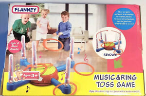 Flanney Ring Toss Game, Kids Colorful Toss Throw Game with Music Rotating and