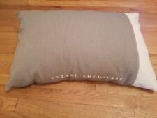 Stearns And Foster Decorative Promo Pillow Covering Taupe Beige w/ White Letters