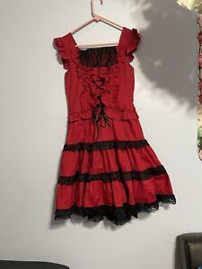 Black/Red Lolita Style Dress (US M)