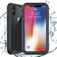 For Apple iPhone XS X Waterproof Case Cover For Built-in Screen Protector Clear