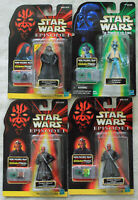 Lot of 4 - Star Wars CommTech Different Action Figures Episode 1 & POTF 1998 NIB