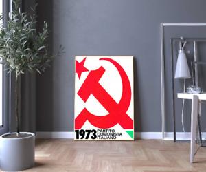Poster Foto Riproduzione Manifesto Partito Comunista Italiano 1973 Politica