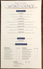 Disney World Contemporary Resort Bay Lake Towers Dvc Top Of World Lounge Menu
