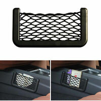 Auto Car Storage Mesh Resilient String Bag Holder Pocket Organizer large black